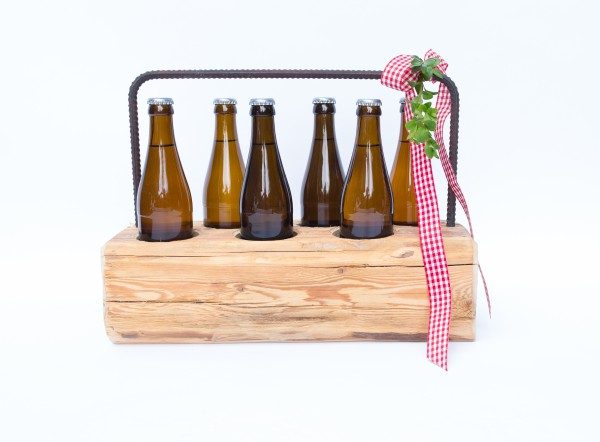 Altholz-Flaschenträger