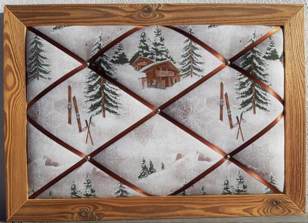 Altholz-Pinnwand Weihnachtslandschaft 1